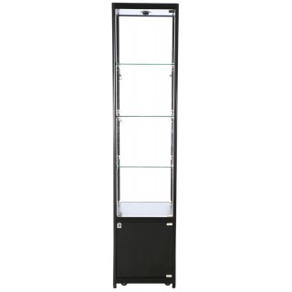 Vitrineskap single, 45x200x45cm