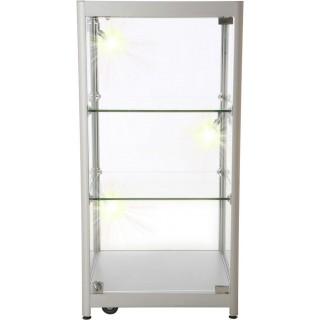Låsbart glass- vitrineskap Single