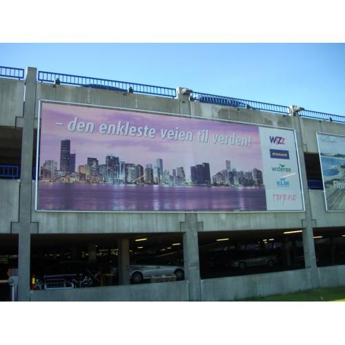 Bannere og reklameseil, storformat utendørs